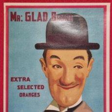 Coleccionismo de carteles: CARTEL ITO ETIQUETA NARANJAS MR. GLAD EL FLACO LAUREL BRAND VALENCIA ORIGINAL K2. Lote 255516245
