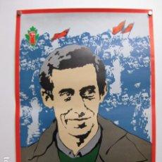 Colecionismo de cartazes: CARTEL POLITICO BIETAN JARRAI - INDEPENDENTISMO VASCO ABERTZALE. Lote 255918695