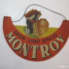 Coleccionismo de carteles: GRAN VINO AÑEJO MONTROY-PEDRO MASANA, BARCELONA-GORRA VISERA PUBLICIDAD ANTIGUA-VER FOTOS-(K-2364). Lote 256047025