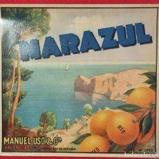 Coleccionismo de carteles: CARTEL ITO ETIQUETA NARANJAS MARAZUL COSTA MANUEL USO VALENCIA ORIGINAL K7. Lote 257342925