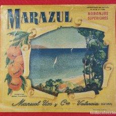 Coleccionismo de carteles: CARTEL ITO ETIQUETA NARANJAS MARAZUL MIRADOR MANUEL USO VALENCIA ORIGINAL K7. Lote 257343080