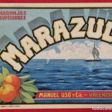 Coleccionismo de carteles: CARTEL ITO ETIQUETA NARANJAS MARAZUL SUPERIORES MANUEL USO VALENCIA ORIGINAL K7. Lote 257343175