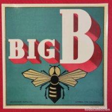 Coleccionismo de carteles: CARTEL ITO ETIQUETA NARANJAS BIG B ABEJA CITREX VALENCIA ORIGINAL K7. Lote 257343470