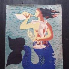 Collectionnisme d'affiches: CARTEL DE LOS JUEGOS MEDITERRÁNEOS BARCELONA 1955. Lote 257589920