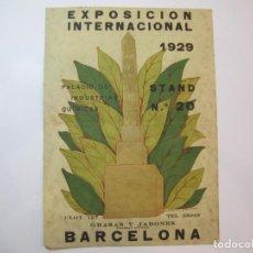 Coleccionismo de carteles: BARCELONA-EXPOSICION INTERNACIONAL 1929-ILUSTRADO POR ISMAEL SMITH-PUBLICIDAD-VER FOTOS-(K-2439). Lote 257849980