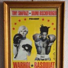 Collezionismo di affissi: CARTEL EXPOSICIÓN WARHOL VS BASQUIAT PAINTINGS NEW-YORK 1985 - DECORACIÓN VINTAGE POP ART BOXEO. Lote 262453995