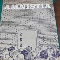 Coleccionismo de carteles: AMNISTIA . CARTEL POLITICO ORIGINAL 1976. SEIX BARRAL. ILUSTRADO POR CESC. 68 X 47 CM. Lote 262860230
