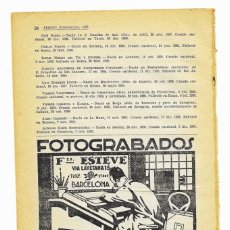 Coleccionismo de carteles: ANUNCIO PEQUEÑO: FOTOGRABADOS FRANCISCO. ESTEVE, TRICOMIAS, AUTOTIPIAS (BARCELONA) 1932.. Lote 262871240