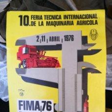 Coleccionismo de carteles: CARTEL DE CARTÓN FERIA INTERNACIONAL DE LA MAQUINARIA AGRÍCOLA ZARAGOZA 1976. Lote 263189970