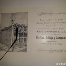 Coleccionismo de carteles: PUBLICIDAD FOLLETO CUBIERTA RUBEROID QUIOSCO FOTO GONZÁLEZ HONTORIA JERÉZ BENÍTEZ GALLEGO C 1900 MAD. Lote 264791519