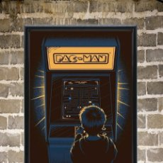 Collectionnisme d'affiches: CUADRO COMECOCOS PAC MAN VIDEOJUEGO POSTER CARTEL MEDIDAS 30X20. Lote 265191414