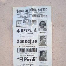 Colecionismo de cartazes: TOROS EN CORIA DEL RÍO , 1.975. Lote 267875264