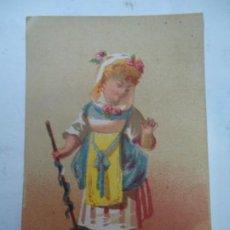 Collectionnisme d'affiches: 1880 TARJETA DE NEGOCIO ANTONIO MENDEZ PLAZA MAYOR 10 LUGO GRAN SURTIDO EN QUINCALLA, FERRETERÍA, HE. Lote 268417594