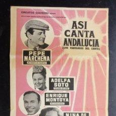 Collezionismo di affissi: PLAZA TOROS TARRAGONA 1967, ASI CANTA ADALUCIA - PEPE MARCHENA, EMILIO EL MORO Y OTROS. Lote 268774339