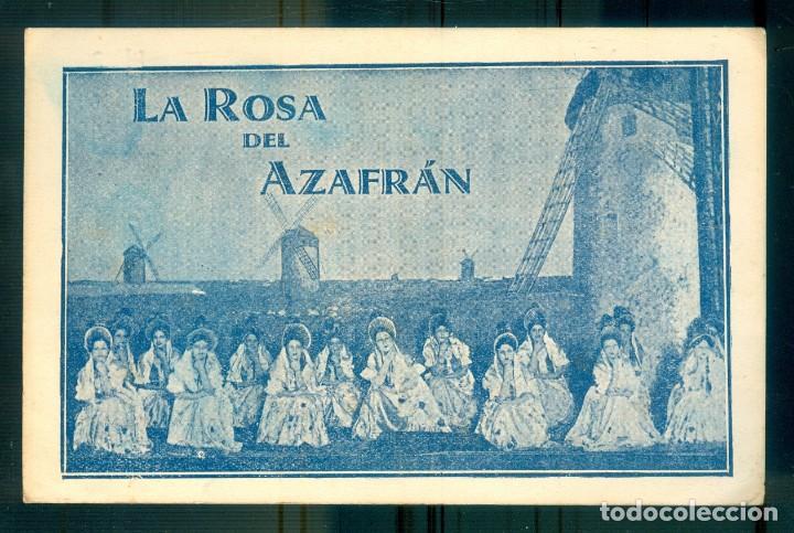 NUMULITE P0642 LA ROSA DEL AZAFRÁN CANCIÓN DE LAS ESPIGADORAS COMPAÑÍA SAUS TEATRO (Coleccionismo - Carteles Pequeño Formato)