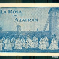 Collectionnisme d'affiches: NUMULITE P0642 LA ROSA DEL AZAFRÁN CANCIÓN DE LAS ESPIGADORAS COMPAÑÍA SAUS TEATRO. Lote 268889159