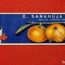 Colecionismo de cartazes: CARTEL ITO ETIQUETA PUBLICIDAD NARANJAS VIZCONDE SANAHUJA NULES CASTELLON ORIGINAL K9. Lote 269096248