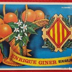 Colecionismo de cartazes: CARTEL ITO ETIQUETA NARANJAS ENRIQUE GINER BENIARJO VALENCIA ORIGINAL K9. Lote 269104548