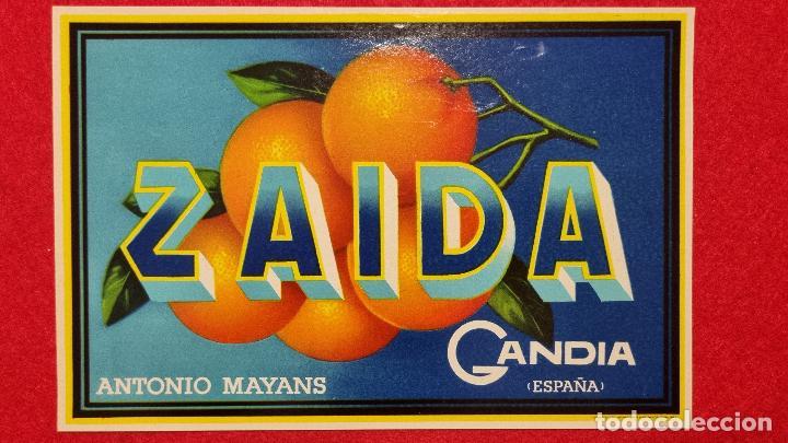 CARTEL ITO ETIQUETA NARANJAS ZAIDA ANTONIO MAYANS GANDIA VALENCIA ORIGINAL K9 (Coleccionismo - Carteles Pequeño Formato)