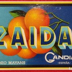 Colecionismo de cartazes: CARTEL ITO ETIQUETA NARANJAS ZAIDA ANTONIO MAYANS GANDIA VALENCIA ORIGINAL K9. Lote 269104928