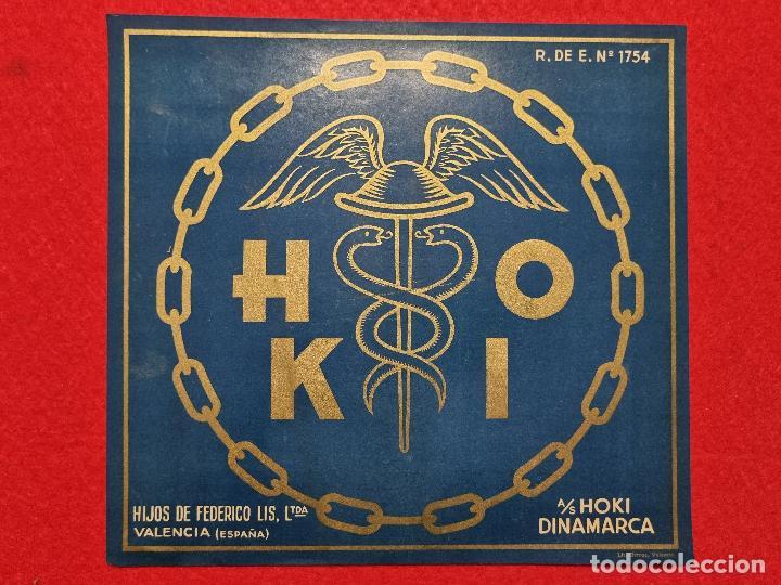 CARTEL ITO ETIQUETA NARANJAS HOKI HIJOS FEDERICO LIS VALENCIA ORIGINAL K10 (Coleccionismo - Carteles Pequeño Formato)