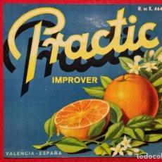 Colecionismo de cartazes: CARTEL ITO ETIQUETA NARANJAS PRACTIC IMPROVER VALENCIA ORIGINAL K10. Lote 269131173