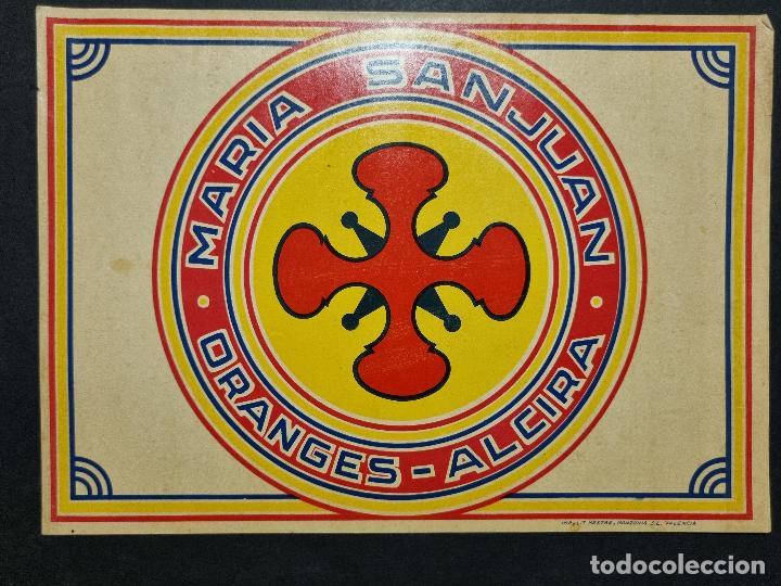 CARTEL ITO ETIQUETA NARANJAS MARIA SANJUAN ALCIRA VALENCIA ORIGINAL K10 (Coleccionismo - Carteles Pequeño Formato)