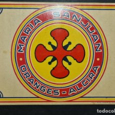 Colecionismo de cartazes: CARTEL ITO ETIQUETA NARANJAS MARIA SANJUAN ALCIRA VALENCIA ORIGINAL K10. Lote 269133973