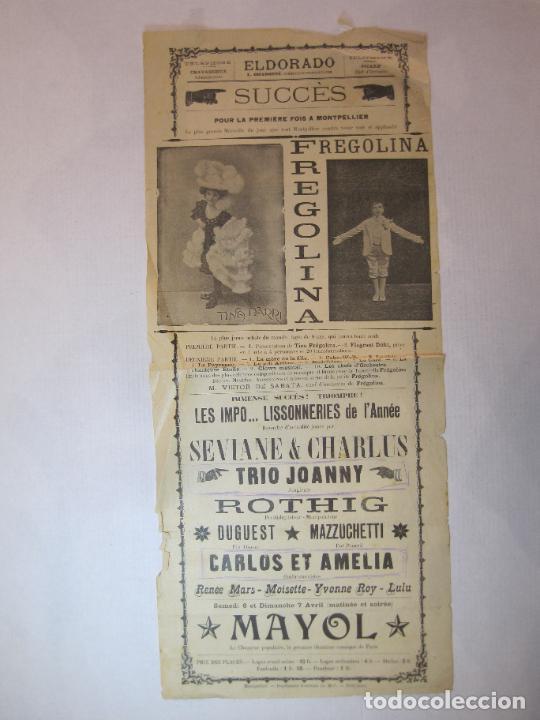 EL DORADO-FREGOLINA-TRIO JOANNY-MAYOL-CARTEL ESPECTACULOS-VER FOTOS-(V-22.812) (Coleccionismo - Carteles Pequeño Formato)