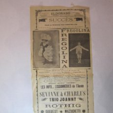 Coleccionismo de carteles: EL DORADO-FREGOLINA-TRIO JOANNY-MAYOL-CARTEL ESPECTACULOS-VER FOTOS-(V-22.812). Lote 269158583