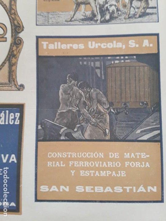 TALLERES URCOLA S.A. CONSTRUCCION MATERIAL FERROVIARIO FORJA Y ESTAMPAJE SAN SEBASTIAN HOJA AÑO 1920 (Coleccionismo - Carteles Pequeño Formato)