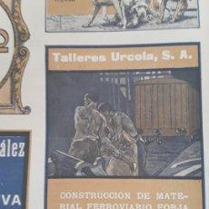 Colecionismo de cartazes: TALLERES URCOLA S.A. CONSTRUCCION MATERIAL FERROVIARIO FORJA Y ESTAMPAJE SAN SEBASTIAN HOJA AÑO 1920. Lote 269406003