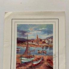 Coleccionismo de carteles: PRECIOSA LAMINA PAISAJE COSTAIDEAL PARA DECORAR Y MARCO SOBREMESA 18X15. Lote 269815223