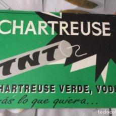 Colecionismo de cartazes: CARTEL PUBLICITARIO DE LICOR CHARTREUSE VERDE , VODKA , PERES CHARTREUX, AÑOS 70. Lote 269958798