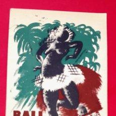Coleccionismo de carteles: BALL DISFRESSES BOHEMIA CÍRCOL ARTÍSTIC - IL.LUSTRACIONS D´EN LAU MIRALLES. Lote 270919403