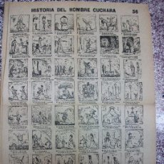 Collectionnisme d'affiches: ALELUYA AUCA - HISTORIA DEL HOMBRE CUCHARA - Nº 56 BOSCH. Lote 271196643