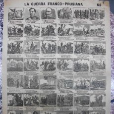 Collectionnisme d'affiches: ALELUYA AUCA - LA GUERRA FRANCO-PRUSIANA MILITAR - Nº 62 BOSCH. Lote 271366263