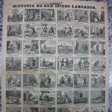 Collectionnisme d'affiches: ALELUYA AUCA - HISTORIA DE SAN ISIDRO LABRADOR DE MADRID - Nº 58 BOSCH. Lote 271373388