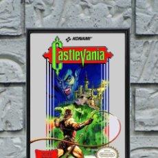 Collectionnisme d'affiches: CUADRO CASTLEVANIA POSTER CARTEL VIDEOJUEGO NINTENDO NES ENMARCADO 30X20 CM. Lote 274531553