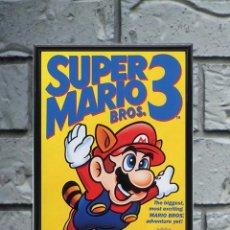 Collectionnisme d'affiches: CUADRO SUPER MARIO BROS 3 POSTER CARTEL VIDEOJUEGO NINTENDO NES ENMARCADO 30X20 CM. Lote 274531688