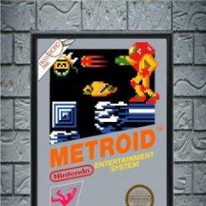Collectionnisme d'affiches: CUADRO METROID POSTER CARTEL VIDEOJUEGO NINTENDO NES ENMARCADO 30X20 CM. Lote 274533463
