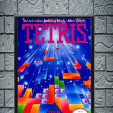 Collectionnisme d'affiches: CUADRO TETRIS POSTER CARTEL VIDEOJUEGO NINTENDO NES ENMARCADO 30X20 CM. Lote 274533623