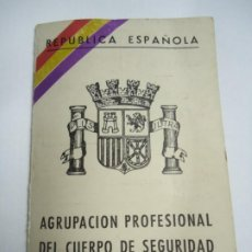 Collectionnisme d'affiches: RARÍSIMO CARNET ORIGINAL DE LA REPÚBLICA EN EL EXILIO 1940 REPÚBLICA ESPAÑOLA - AGRUPACIÓN PROFESION. Lote 274619133