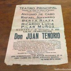 Colecionismo de cartazes: ANTIGUO CARTEL TEATRO PRINCIPAL ALICANTE 1955, OBRA DON JUAN TENORIO. Lote 275147813