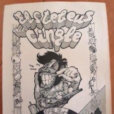 Colecionismo de cartazes: ELS TEBEUS DEL CINGLE - PEQUEÑO CARTEL COLOR MARRÓN CLARO - PERFECTO ESTADO. Lote 275234888