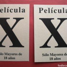 Collectionnisme d'affiches: CARTELES CENSURA. PELICULAS X. MAYORES DE 18 AÑOS. ENVIO INCLUIDO EN EL PRECIO.. Lote 275653158