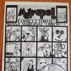 Colecionismo de cartazes: METROPOL - ANTIGUA TIENDA DE COMICS Y TEBEOS - PERFECTO ESTADO. Lote 275946383