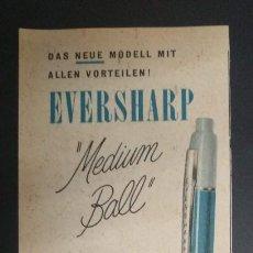 Coleccionismo de carteles: PUBLICIDAD 1956 HOJA REVISTA ANUNCIO EVERSHARP. Lote 275960223