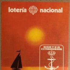 Colecionismo de cartazes: CARTAGENA. HISTÓRICO CARTEL PROMOCIONAL LOTERÍA NACIONAL SORTEO EXTRAORDINARIO DÍA DEL MAR 1980. Lote 275973183