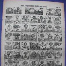 Collectionnisme d'affiches: ALELUYA AUCA - NUEVA LOTERIA DE LOS GLOBOS JUEGO DE NIÑOS AEROSTACION Nº 57 LLORENS. Lote 276027833